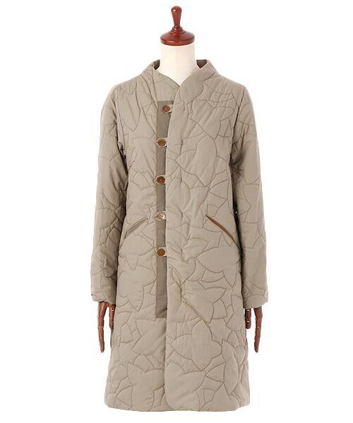 PAL'LAS PALACE / パラスパレス ノーカラージャケット | サイロブロード ボトル衿コート(ベージュ)