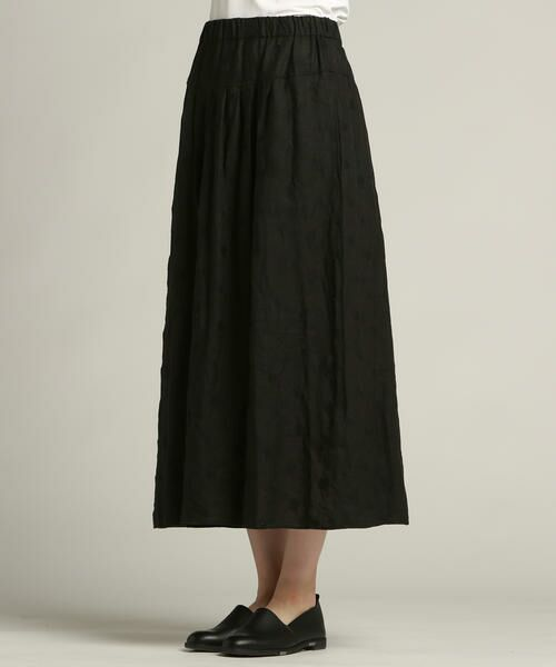 Pao・de・lo / パオデロ スカート | 【雑誌掲載】【WEBサイズ別注】リネンドット刺繍スカート | 詳細1