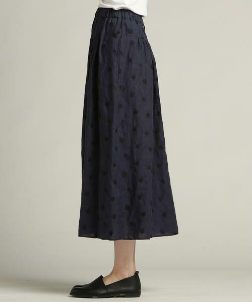 Pao・de・lo / パオデロ スカート | 【雑誌掲載】【WEBサイズ別注】リネンドット刺繍スカート | 詳細4