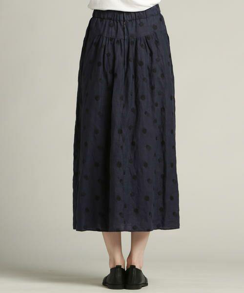 Pao・de・lo / パオデロ スカート | 【雑誌掲載】【WEBサイズ別注】リネンドット刺繍スカート | 詳細5