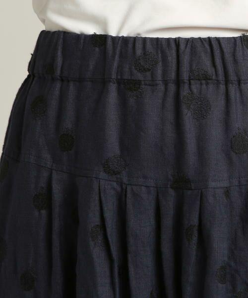 Pao・de・lo / パオデロ スカート | 【雑誌掲載】【WEBサイズ別注】リネンドット刺繍スカート | 詳細6