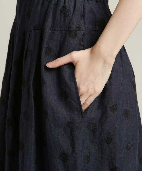 Pao・de・lo / パオデロ スカート | 【雑誌掲載】【WEBサイズ別注】リネンドット刺繍スカート | 詳細7