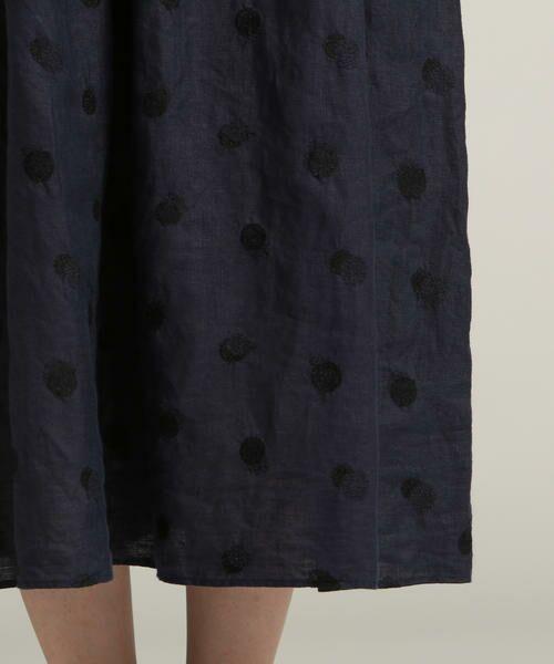 Pao・de・lo / パオデロ スカート | 【雑誌掲載】【WEBサイズ別注】リネンドット刺繍スカート | 詳細9