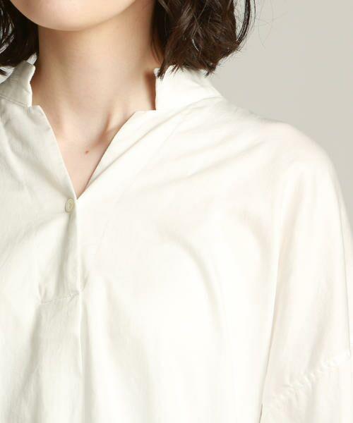 Pao・de・lo / パオデロ シャツ・ブラウス | 【WEBサイズ別注】製品染め綿サテンブラウス | 詳細3
