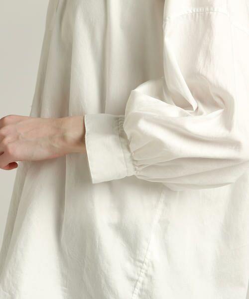 Pao・de・lo / パオデロ シャツ・ブラウス | 【WEBサイズ別注】製品染め綿サテンブラウス | 詳細4