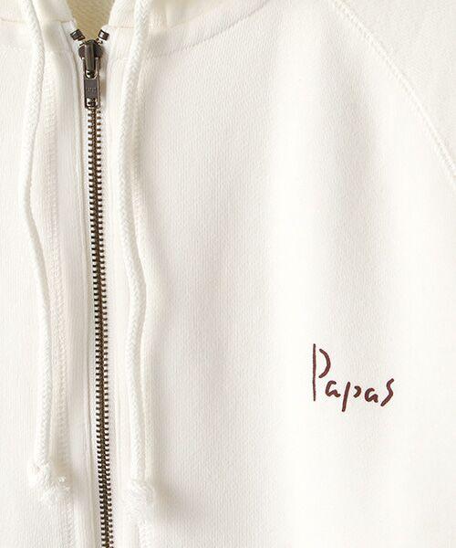 PAPAS / パパス パーカー   【定番】吊り裏毛パーカー   詳細1