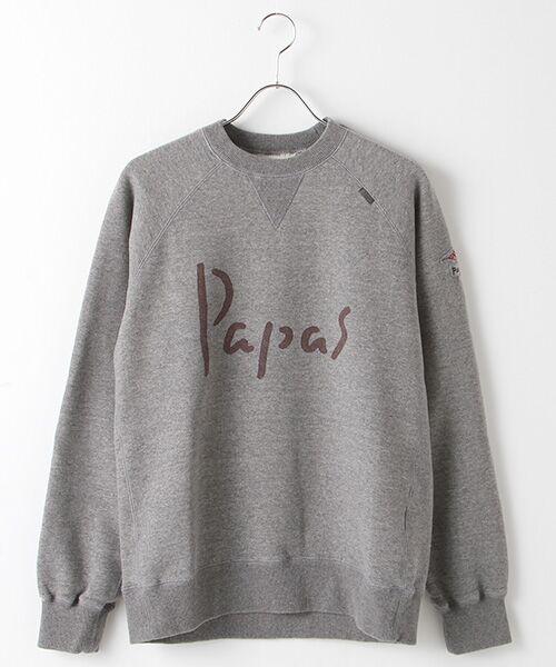 PAPAS / パパス スウェット | 【定番】吊り編みトレーナー(TOPミディアムグレー)