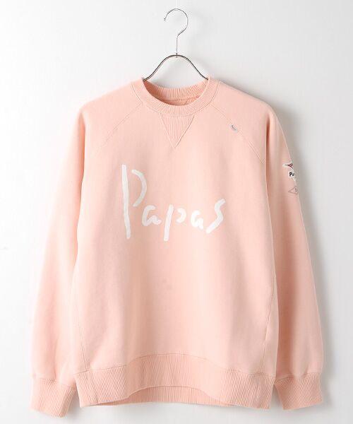 PAPAS / パパス スウェット | 【定番】吊り編みトレーナー(ピンク)