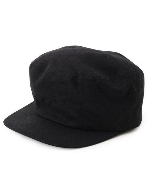passage mignon / パサージュ ミニョン ハンチング・キャスケット・ベレー帽   Cloods 綿麻キャスケット(ブラック(019))