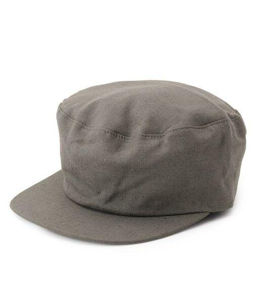 passage mignon / パサージュ ミニョン ハンチング・キャスケット・ベレー帽   Cloods 綿麻キャスケット(ダークグリーン(023))