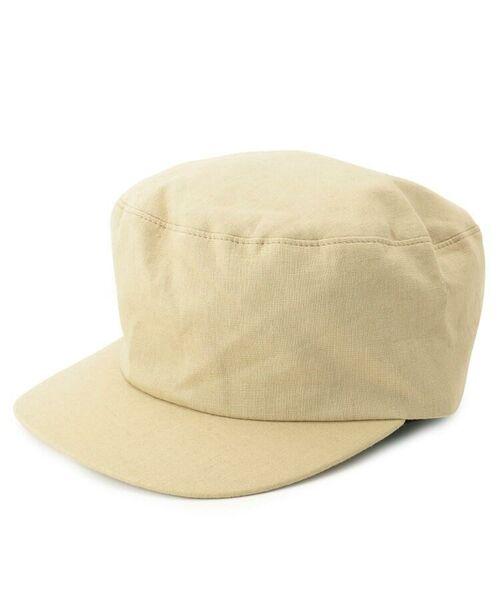 passage mignon / パサージュ ミニョン ハンチング・キャスケット・ベレー帽   Cloods 綿麻キャスケット(ナチュラル(050))