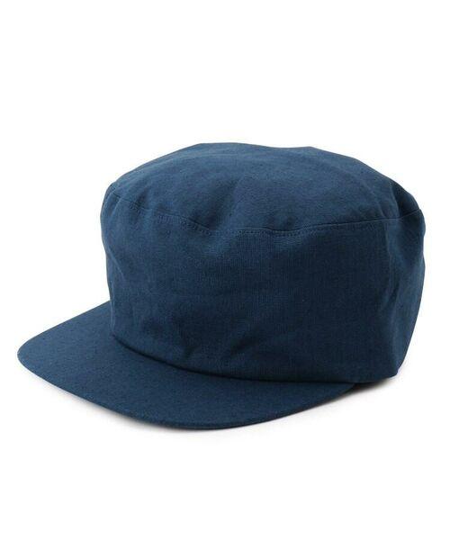 passage mignon / パサージュ ミニョン ハンチング・キャスケット・ベレー帽   Cloods 綿麻キャスケット(ネイビー(093))