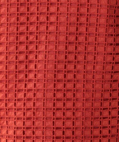 Paul Stuart / ポール・スチュアート シャツ・ブラウス | 【ウォッシャブル】ミニブロックエンブロイダリー ブラウス | 詳細11