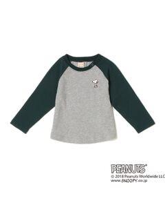 PEANUTSコラボSNOOPYラグランTシャツ