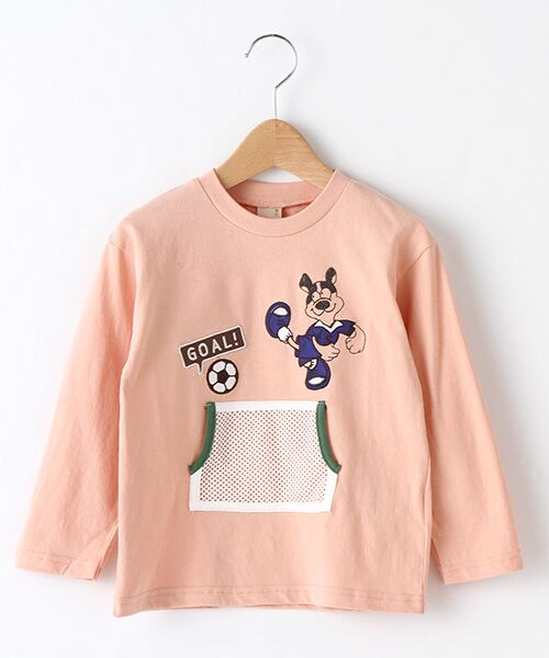 petit main/プティマイン メッシュポケットスポーツTシャツ オレンジ 90