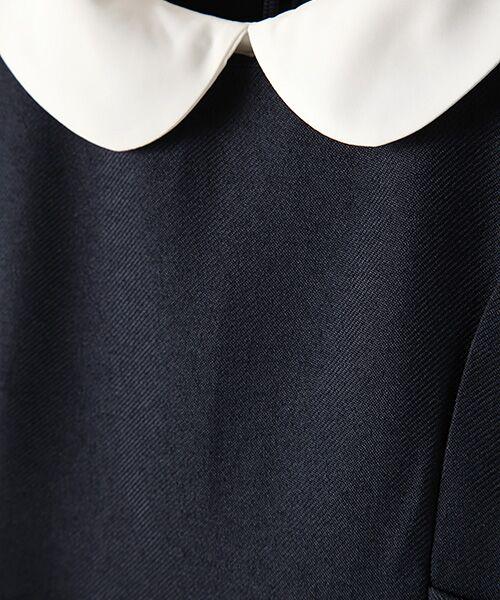 petit main / プティマイン ミニ丈・ひざ丈ワンピース | 衿つきウエスト切り替えワンピース | 詳細1