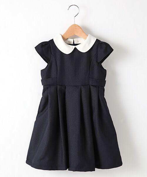 petit main / プティマイン ミニ丈・ひざ丈ワンピース | 衿つきウエスト切り替えワンピース(コン)