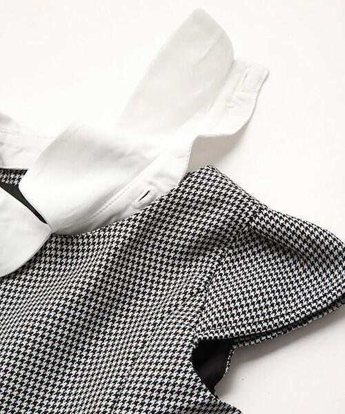 petit main / プティマイン ミニ丈・ひざ丈ワンピース | 衿つきウエスト切り替えワンピース | 詳細7