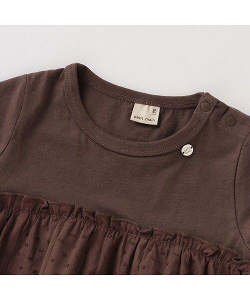 petit main / プティマイン Tシャツ | 【リンク/接触冷感】切替ティアードTシャツ | 詳細4