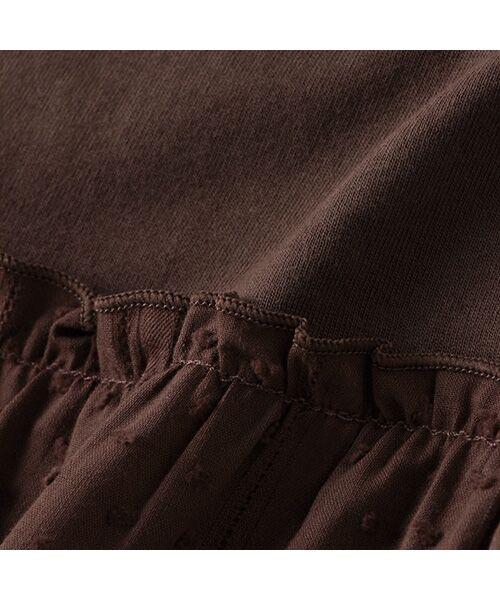 petit main / プティマイン Tシャツ | 【リンク/接触冷感】切替ティアードTシャツ | 詳細7