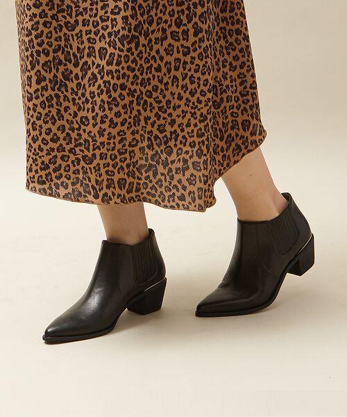 PICHE ABAHOUSE / ピシェ アバハウス ブーツ(ショート丈) | ウエスタンアンクルブーツ(ブラック)