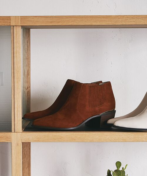 PICHE ABAHOUSE / ピシェ アバハウス ブーツ(ショート丈) | ウエスタンアンクルブーツ(キャメル)