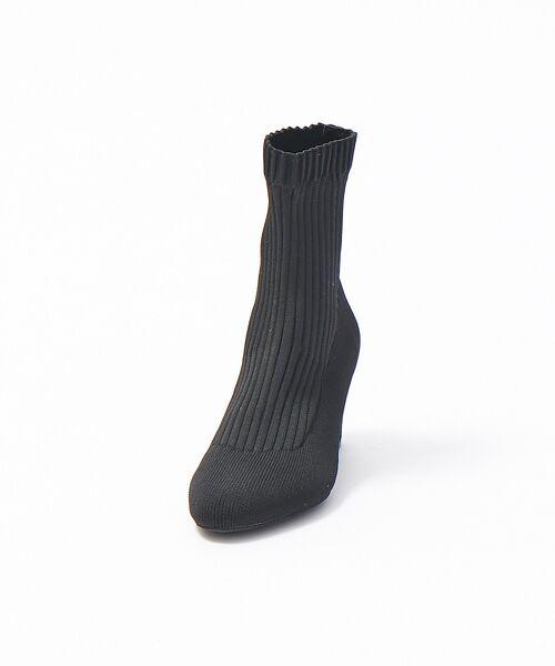 PICHE ABAHOUSE / ピシェ アバハウス ブーツ(ショート丈) | リブ編みソックスブーツ | 詳細2