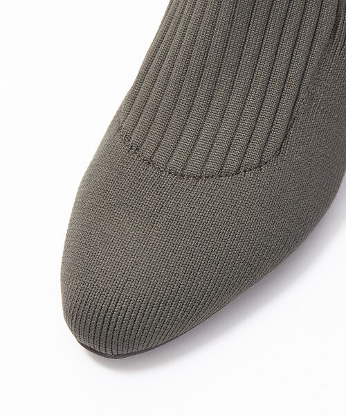PICHE ABAHOUSE / ピシェ アバハウス ブーツ(ショート丈) | リブ編みソックスブーツ | 詳細14