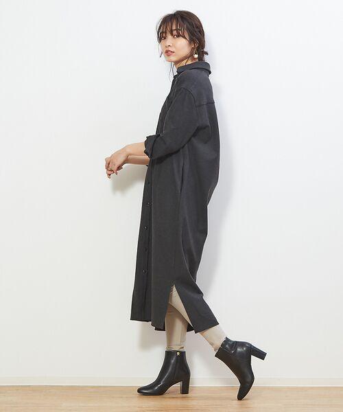 PICHE ABAHOUSE / ピシェ アバハウス ブーツ(ショート丈) | fluffy fit 7cmチャンキーヒールショートブーツ | 詳細11