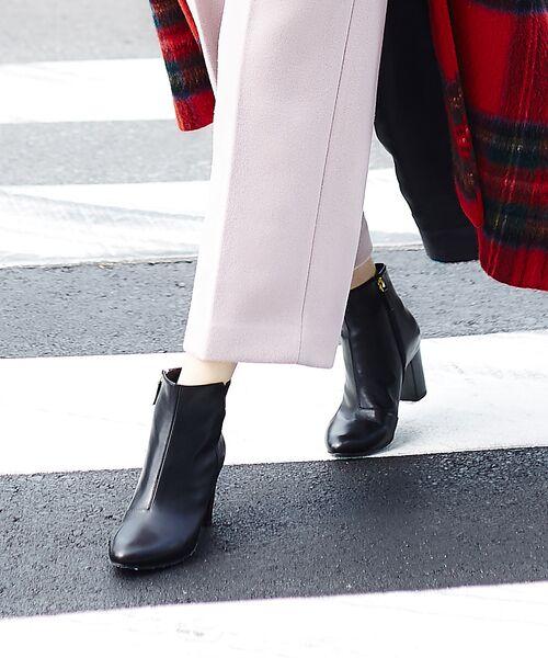 PICHE ABAHOUSE / ピシェ アバハウス ブーツ(ショート丈) | fluffy fit 7cmチャンキーヒールショートブーツ【予約】(ブラック)