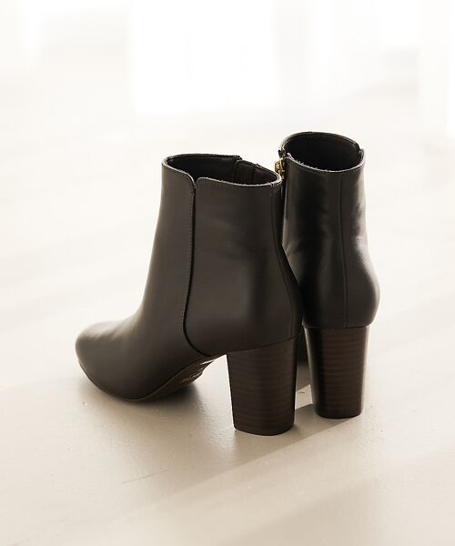 PICHE ABAHOUSE / ピシェ アバハウス ブーツ(ショート丈) | fluffy fit 7cmチャンキーヒールショートブーツ【予約】(ダークブラウン)