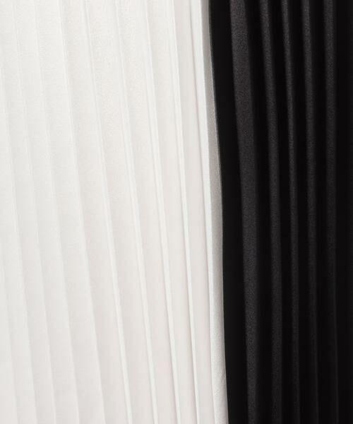 pierre cardin / ピエール ・カルダン ミニ・ひざ丈スカート | ストレッチサテン バイカラーアコーディオンプリーツスカート | 詳細5