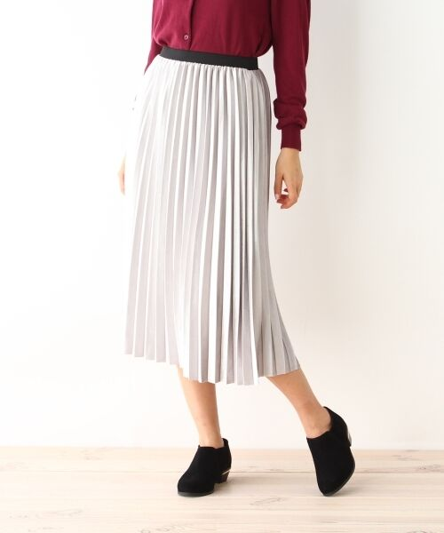 pink adobe / ピンクアドベ スカート | カットベロアプリーツスカート | 詳細1