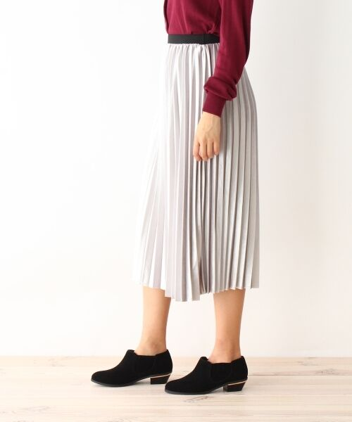pink adobe / ピンクアドベ スカート | カットベロアプリーツスカート | 詳細2