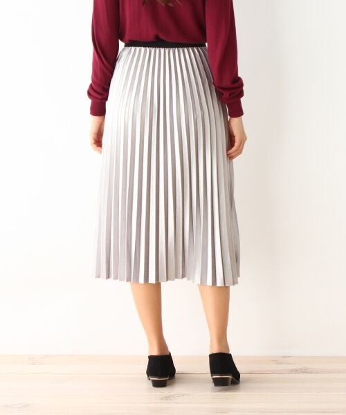 pink adobe / ピンクアドベ スカート | カットベロアプリーツスカート | 詳細3