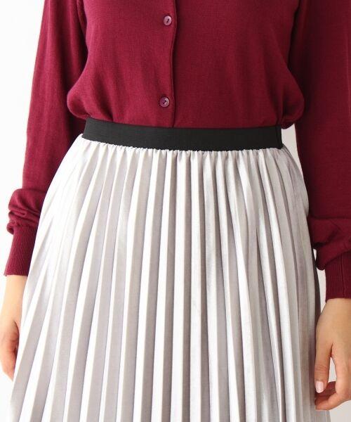 pink adobe / ピンクアドベ スカート | カットベロアプリーツスカート | 詳細4