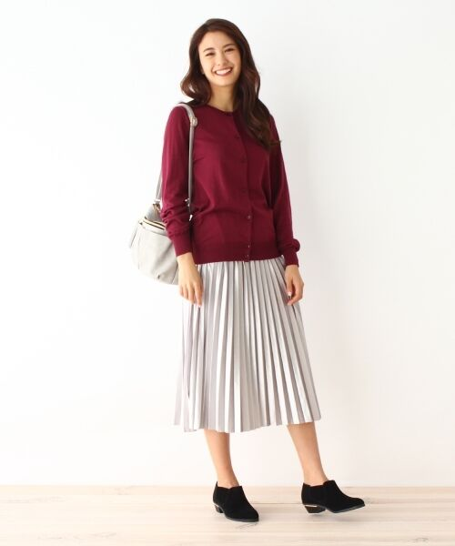 pink adobe / ピンクアドベ スカート | カットベロアプリーツスカート | 詳細6