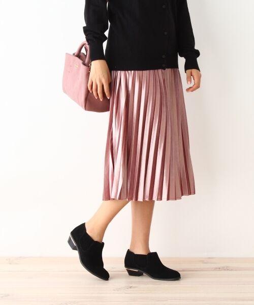 pink adobe / ピンクアドベ スカート | カットベロアプリーツスカート(ピンク(072))