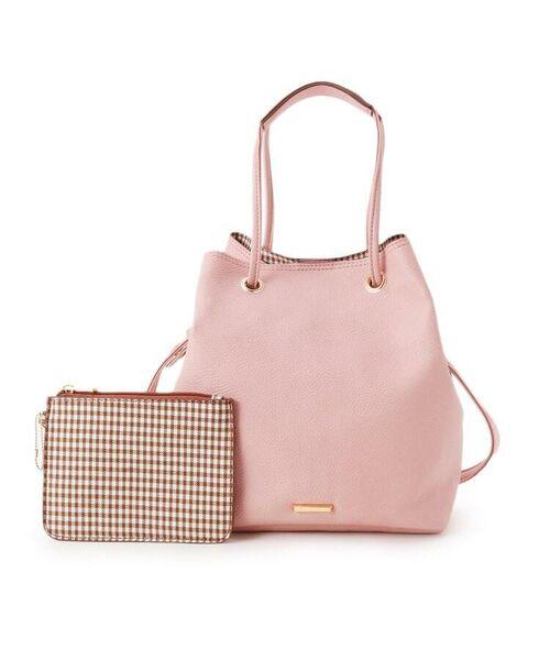pink adobe/ピンクアドベ <2WAY>大人ギンガムチェック バッグ ベビーピンク(071) 00