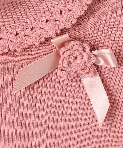 PINK HOUSE / ピンクハウス ニット・セーター | フラワーモチーフ付き綿タートルニット | 詳細9