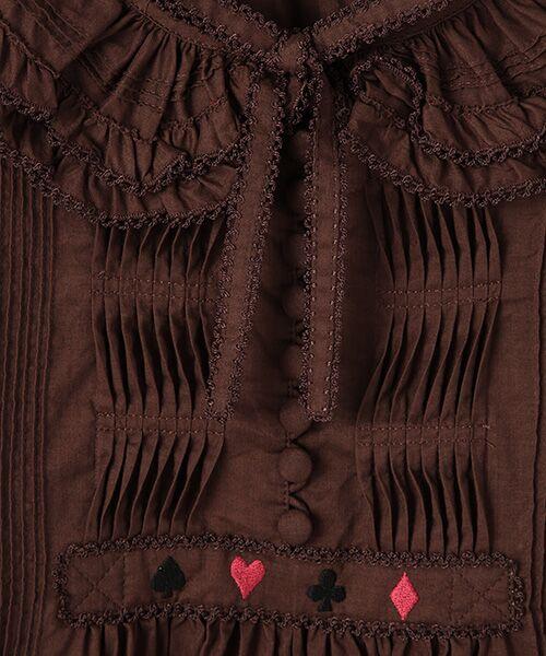 PINK HOUSE / ピンクハウス シャツ・ブラウス | トランプ刺繍入りローンブラウス | 詳細7