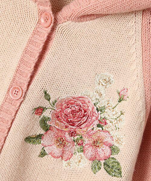 PINK HOUSE / ピンクハウス カーディガン・ボレロ   イングリッシュローズ刺繍入りフード付きニットカーディガン   詳細5