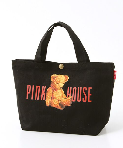 PINK HOUSE / ピンクハウス トートバッグ | ピンクハウスアーカイブプリントトートバッグ(くったりクマ・クロ)