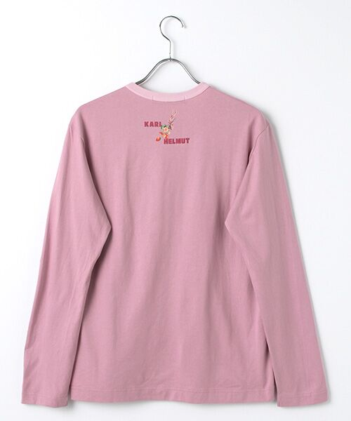 PINK HOUSE / ピンクハウス カットソー | カールヘルムキャラクターリバイバルプリント長袖Tシャツ | 詳細3