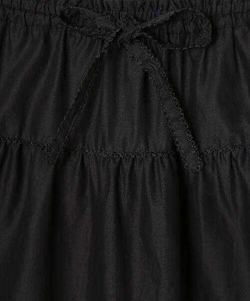 PINK HOUSE / ピンクハウス ロング・マキシ丈スカート | リボン使いローンスカート | 詳細1