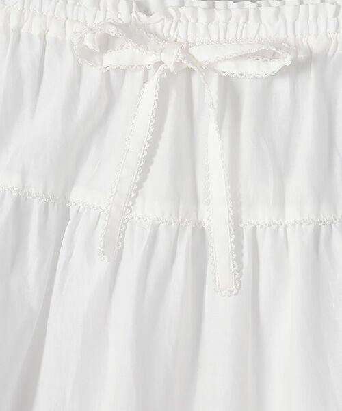 PINK HOUSE / ピンクハウス ロング・マキシ丈スカート | リボン使いローンスカート | 詳細2