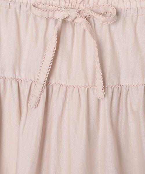 PINK HOUSE / ピンクハウス ロング・マキシ丈スカート | リボン使いローンスカート | 詳細3