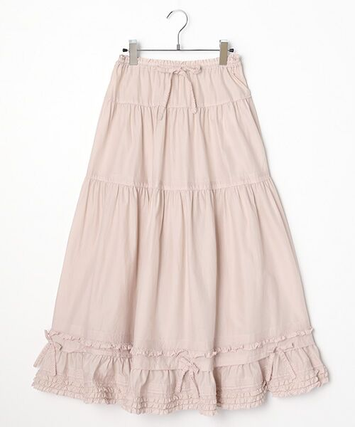 PINK HOUSE / ピンクハウス ロング・マキシ丈スカート | リボン使いローンスカート(ピンクローズ)