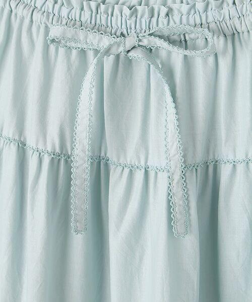 PINK HOUSE / ピンクハウス ロング・マキシ丈スカート | リボン使いローンスカート | 詳細4