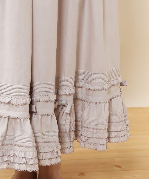 PINK HOUSE / ピンクハウス ロング・マキシ丈スカート | リボン使いローンスカート | 詳細8